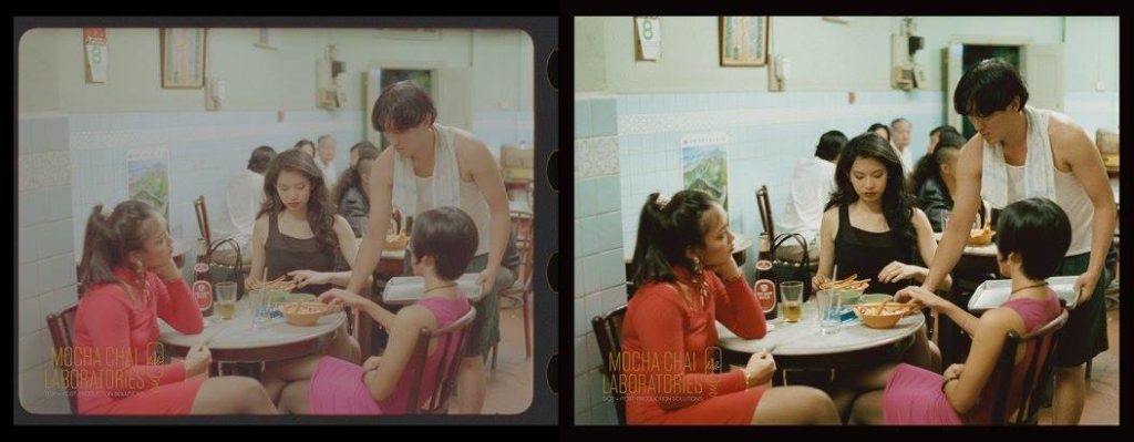 A scene from Eric Khoo's Mee Pok Man (1995) restored by Mocha Chai Laboratories